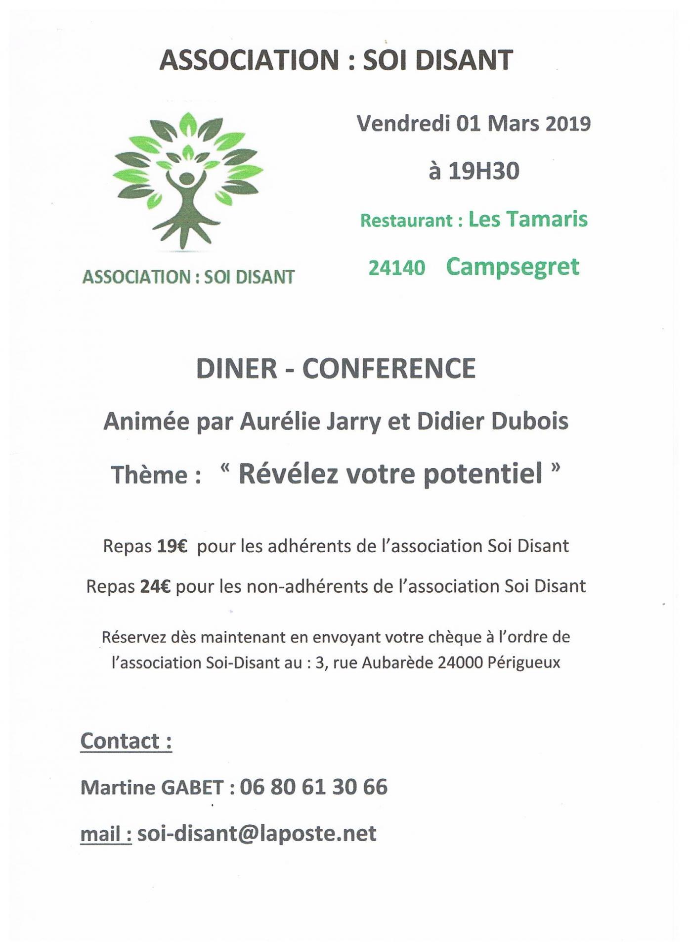 Diner conference 01 mars 2019 association soi disant pdf